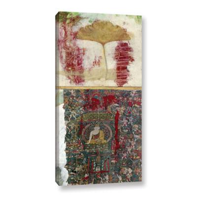 Brushstone Buddha -2 Gallery Wrapped Canvas Wall Art