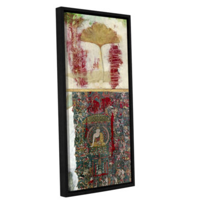 Brushstone Buddha -2 Gallery Wrapped Floater-Framed Canvas Wall Art