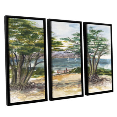 Brushstone Carmel By The Sea 3-pc. Floater FramedCanvas Wall Art