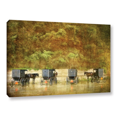 Brushstone Carriages Gallery Wrapped Canvas Wall Art