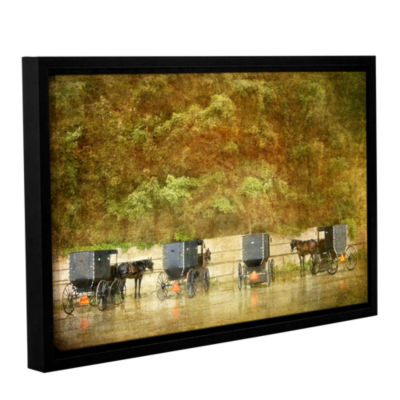 Brushstone Carriages Gallery Wrapped Floater-Framed Canvas Wall Art