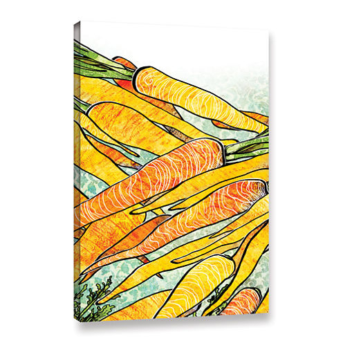 Brushstone Carrot Medley Gallery Wrapped Canvas Wall Art