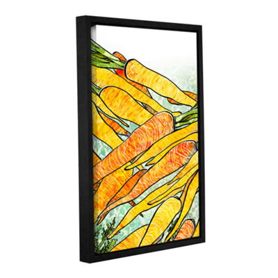 Brushstone Carrot Medley Gallery Wrapped Floater-Framed Canvas Wall Art