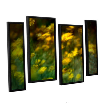 Brushstone Carry 4-pc. Floater Framed Staggered Canvas Wall Art