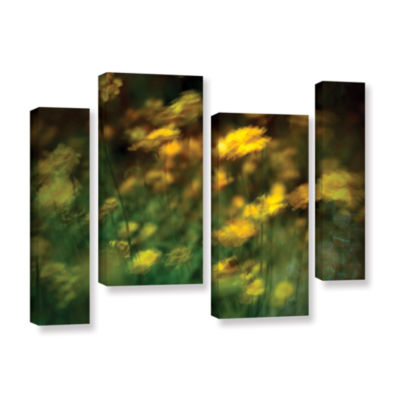 Brushstone Carry 4-pc. Gallery Wrapped Staggered Canvas Wall Art