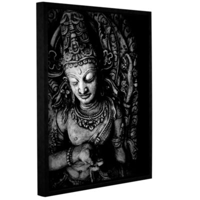 Brushstone Buddha Gallery Wrapped Floater-Framed Canvas Wall Art