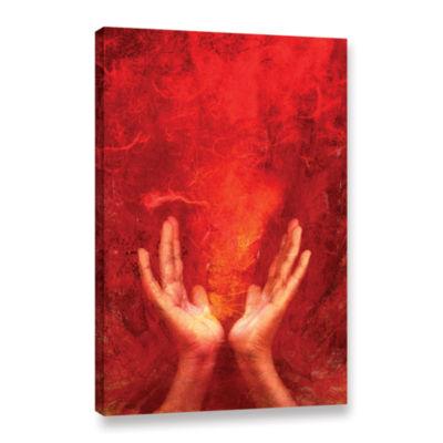 Brushstone Chakra Fire Gallery Wrapped Canvas WallArt