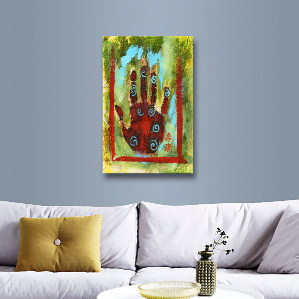 Brushstone Buddhist Palm Gallery Wrapped Canvas Wall Art