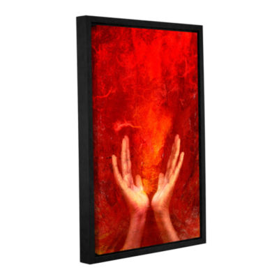 Brushstone Chakra Fire Gallery Wrapped Floater-Framed Canvas Wall Art