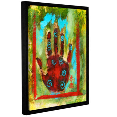 Brushstone Buddhist Palm Gallery Wrapped Floater-Framed Canvas Wall Art