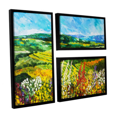 Brushstone Change Is In The Air 3-pc. Flag FloaterFramed Canvas Wall Art
