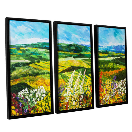 Brushstone Change Is In The Air 3-pc. Floater Framed Canvas Wall Art