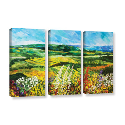 Brushstone Change Is In The Air 3-pc. Gallery Wrapped Canvas Wall Art