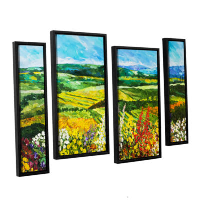 Brushstone Change Is In The Air 4-pc. Floater Framed Staggered Canvas Wall Art