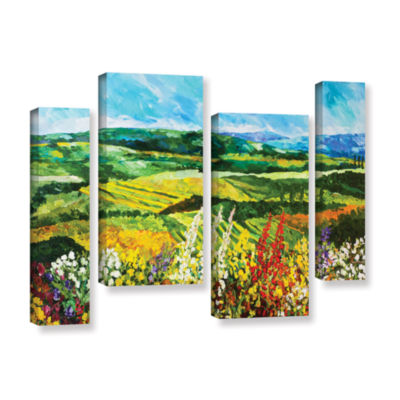 Brushstone Change Is In The Air 4-pc. Gallery Wrapped Staggered Canvas Wall Art