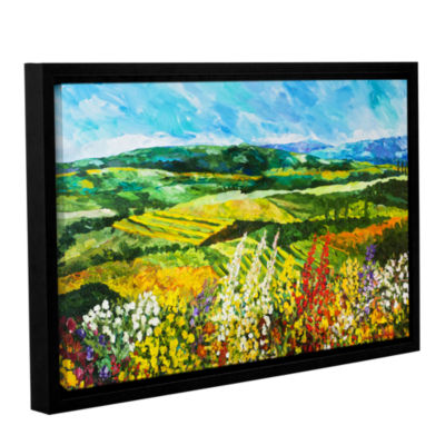 Brushstone Change Is In The Air Gallery Wrapped Floater-Framed Canvas Wall Art
