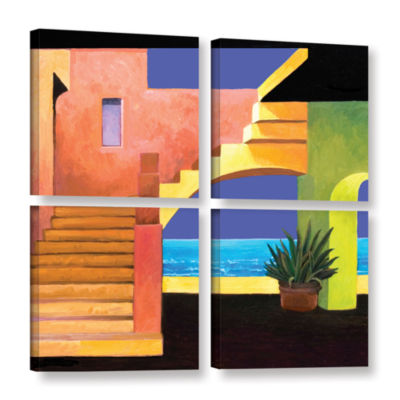 Brushstone Casa Del Mar 4-pc. Square Gallery Wrapped Canvas Wall Art