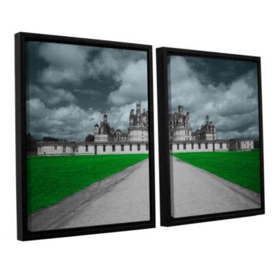 Brushstone Castle 2-pc. Floater Framed Canvas WallArt