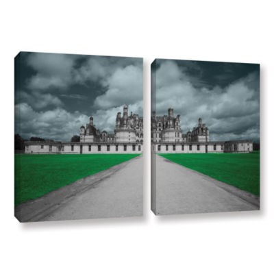 Brushstone Castle 2-pc. Gallery Wrapped Canvas Wall Art