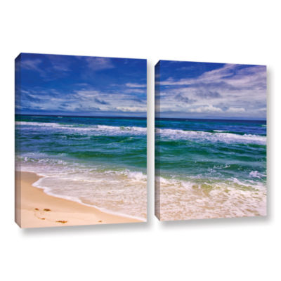 Brushstone Changing Tides 2-pc. Gallery Wrapped Canvas Wall Art