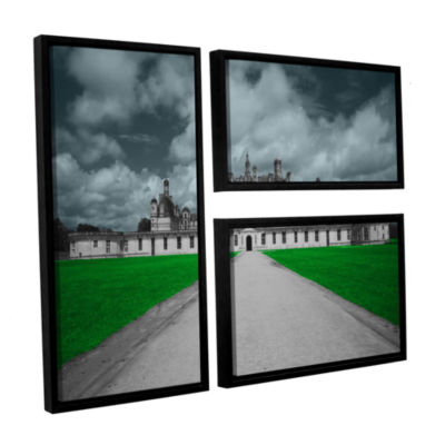 Brushstone Castle 3-pc. Flag Floater Framed Canvas Wall Art
