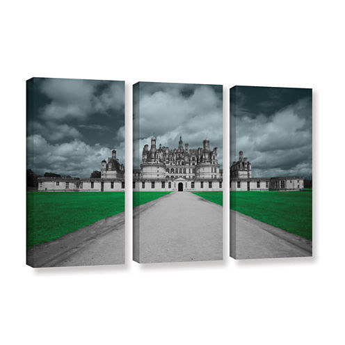 Brushstone Castle 3-pc. Gallery Wrapped Canvas Wall Art