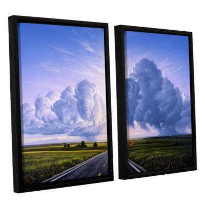 Brushstone Buffalo Crossing 2-pc. Floater Framed Canvas Wall Art