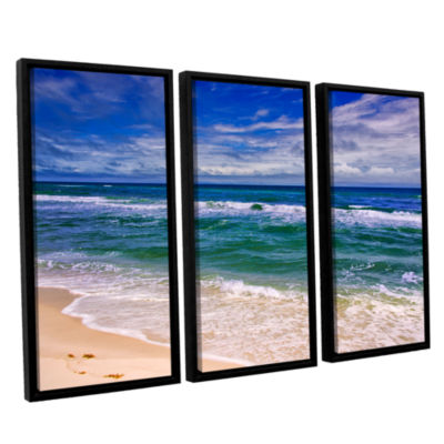 Brushstone Changing Tides 3-pc. Floater Framed Canvas Wall Art
