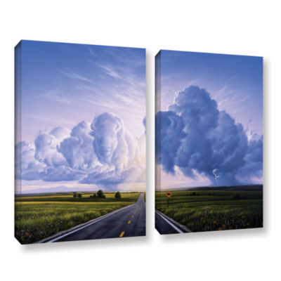 Brushstone Buffalo Crossing 2-pc. Gallery WrappedCanvas Wall Art