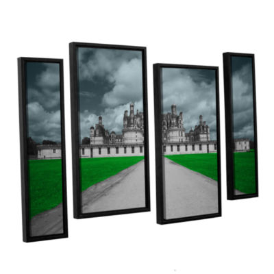 Brushstone Castle 4-pc. Floater Framed Staggered Canvas Wall Art