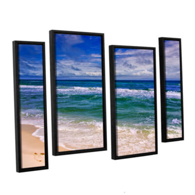 Brushstone Changing Tides 4-pc. Floater Framed Staggered Canvas Wall Art