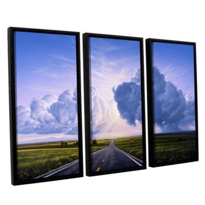 Brushstone Buffalo Crossing 3-pc. Floater Framed Canvas Wall Art