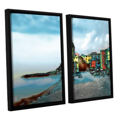 Brushstone Camogli; Italy Beachside 2-pc. FloaterFramed Canvas Wall Art