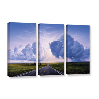 Brushstone Buffalo Crossing 3-pc. Gallery WrappedCanvas Wall Art