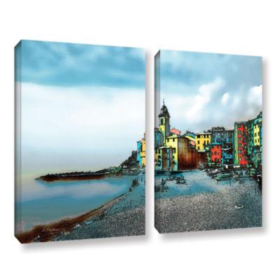 Brushstone Camogli; Italy Beachside 2-pc. GalleryWrapped Canvas Wall Art