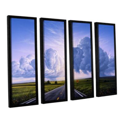 Brushstone Buffalo Crossing 4-pc. Floater Framed Canvas Wall Art