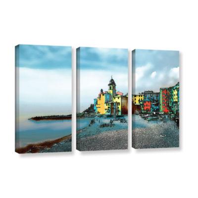 Brushstone Camogli Italy Beachside 3-pc. Gallery Wrapped Canvas Wall Art