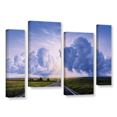 Brushstone Buffalo Crossing 4-pc. Gallery WrappedStaggered Canvas Wall Art