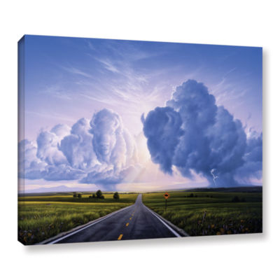 Brushstone Buffalo Crossing Gallery Wrapped CanvasWall Art