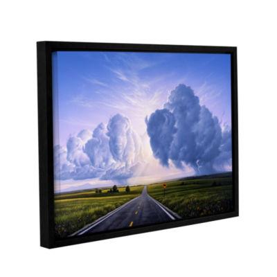 Brushstone Buffalo Crossing Gallery Wrapped Floater-Framed Canvas Wall Art