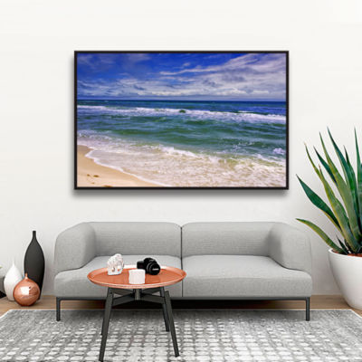 Brushstone Changing Tides Gallery Wrapped Floater-Framed Canvas Wall Art