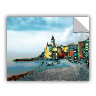 Brushstone Camogli, Italy Beachside Removable Wall Decal