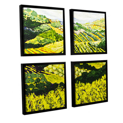 Brushstone Changing World 4-pc. Square Floater Framed Canvas Wall Art