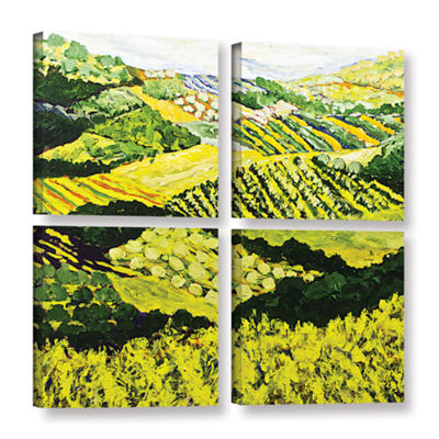 Brushstone Changing World 4-pc. Square Gallery Wrapped Canvas Wall Art