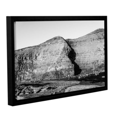 Brushstone Cave In Rock Wall Gallery Wrapped Floater-Framed Canvas Wall Art