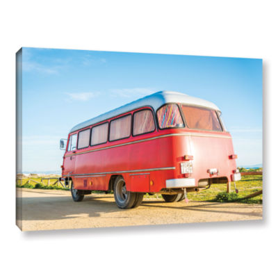 Brushstone Campervan Spain Gallery Wrapped CanvasWall Art