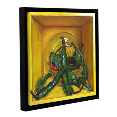 Brushstone Cayenne Gallery Wrapped Floater-FramedCanvas Wall Art