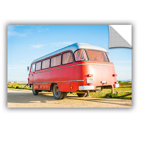 Brushstone Campervan Spain Removable Wall Decal