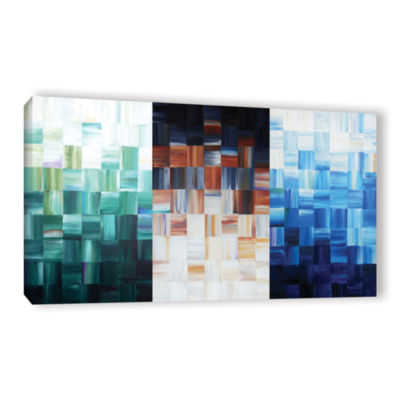 Brushstone Checkered Gallery Wrapped Canvas Wall Art