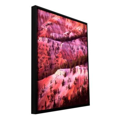 Brushstone Cedar Breaks Twilight Gallery Wrapped Floater-Framed Canvas Wall Art